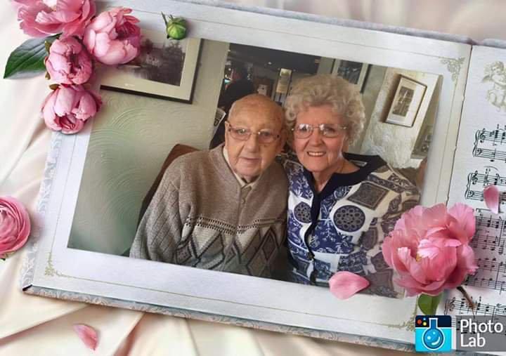 Megan and Raymond celebrating 65 years anniversary