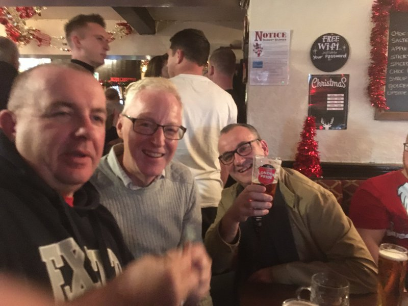 Papermakers Arms with Pete and Paul and all our Christmas meet-up buddies December 24th 2019.