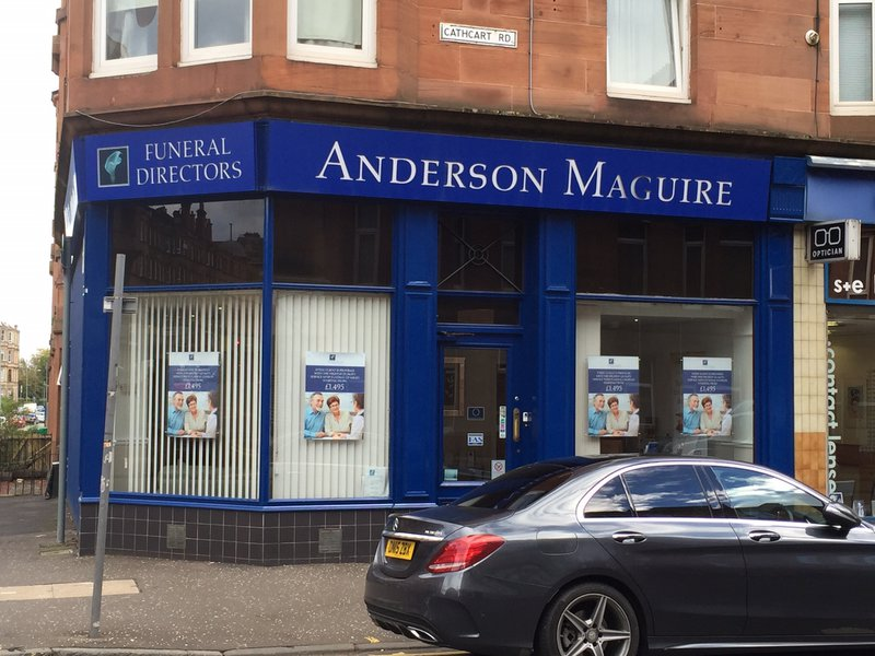 Anderson Maguire Mount Florida, City of Glasgow, funeral director in City of Glasgow