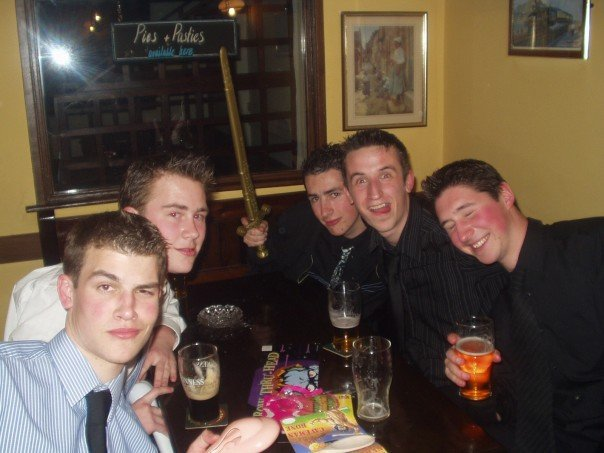 Victory pints down the castle, where champions would drink