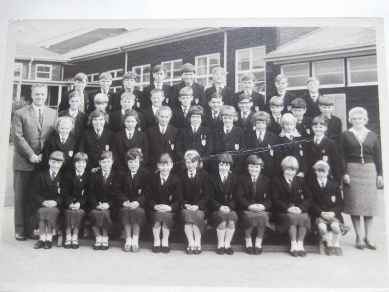 School photo 1st year at Mortimer Wilson School, Alfreton 1965/66  Chris is second row from the top, 3rd from left. I'm top row, 4th from the right
