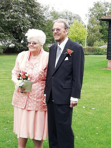 Mum and John on their wedding day September 2018