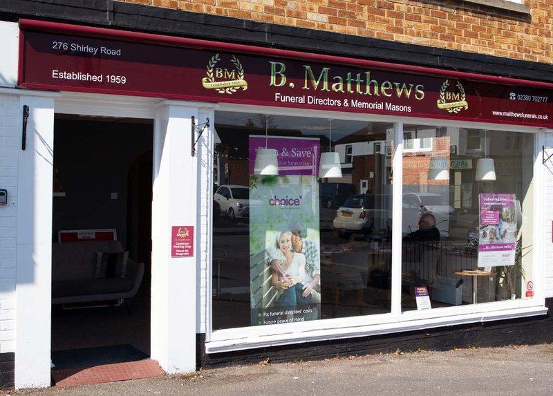 B Matthews Funeral Directors, Shirley, Hampshire, funeral director in Hampshire