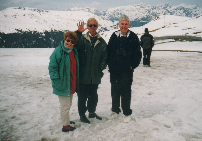 Our sugar and booze run to Pyrenees with Mike and Kath one Easter