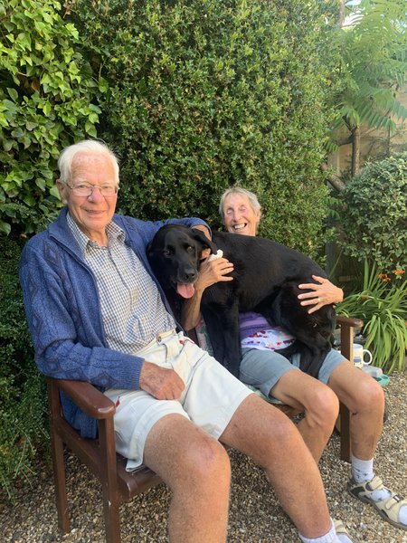 Tea, biscuits and sunshine with Jimbo, Jane and Bruce                                                          (24th July 2020)