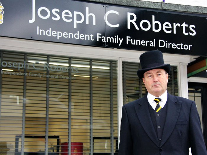 Independent funeral director Jonathan Robinson