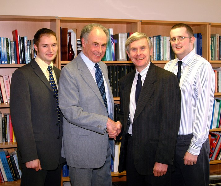 Trevor in around 2004 at Rutherford lab, along with the CEO (John Wood) and two apprentices at the time.