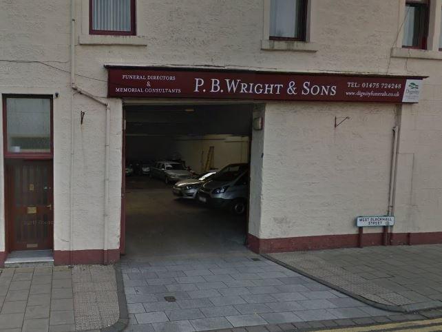 P B Wright & Sons Funeral Directors, Greenock