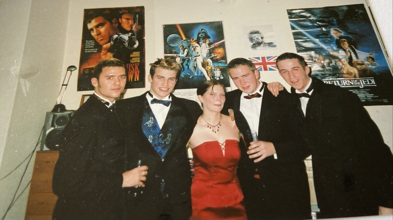 Dave at Portsmouth University dressed up for the Christmas Ball - he is remembered fondly by everyone who met him and mourned by us all Xx