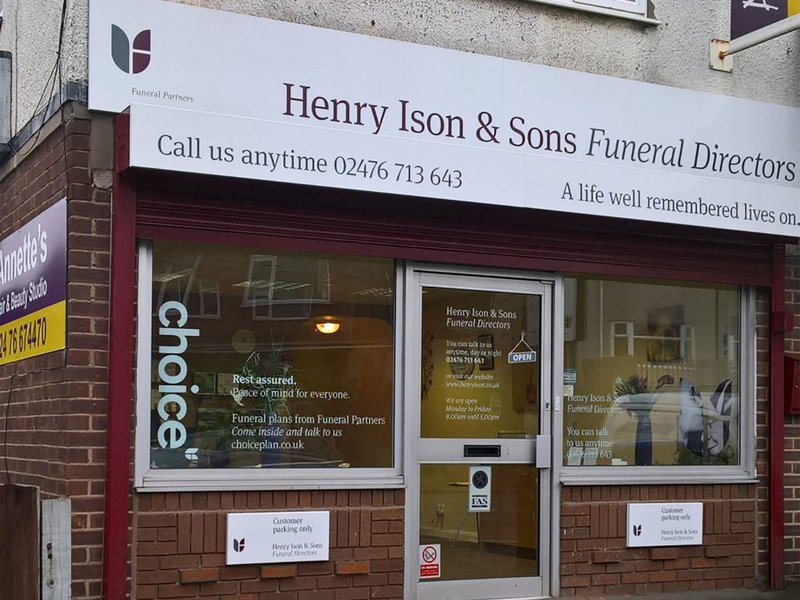 Henry Ison & Sons Funeral Directors, Allesley Old Road, West Midlands, funeral director in West Midlands