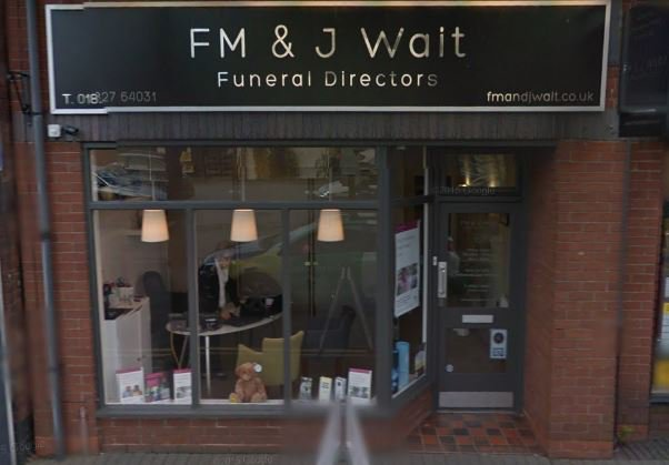 F M & J Wait Funeral Directors, Tamworth, Staffordshire, funeral director in Staffordshire
