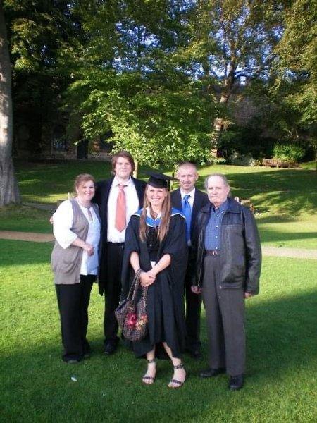 Grandad Joe at my graduation 🐊
