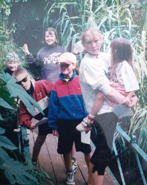 Shane bottom left, Jade bottom right with our Kirsty, 1997