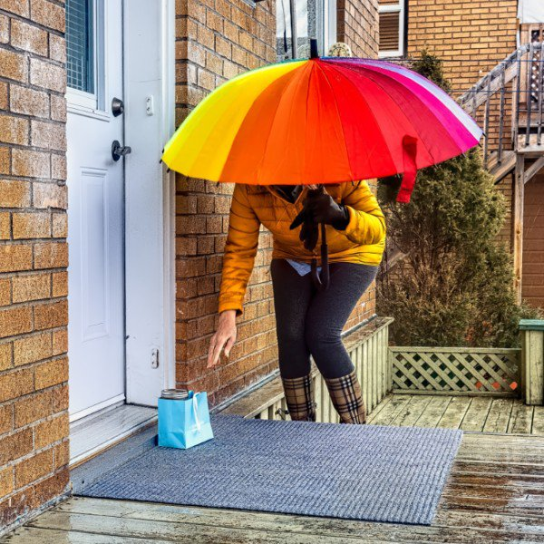 woman helping a neighbour