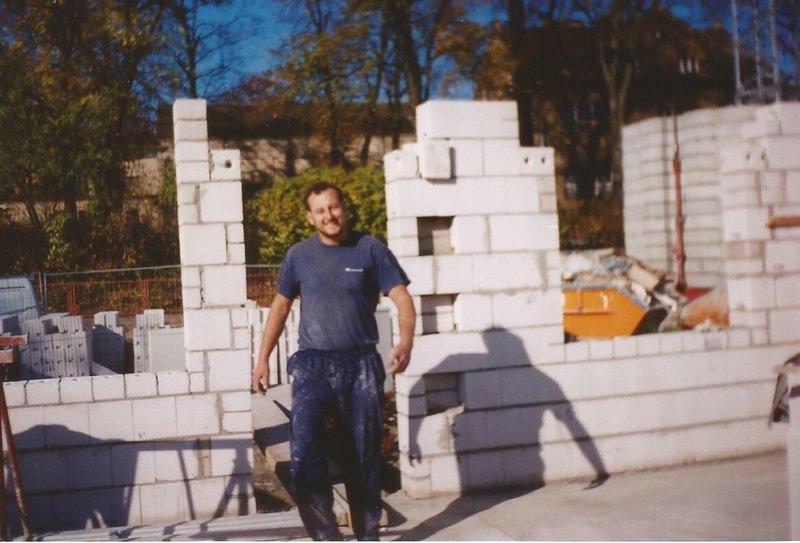 1992 Chris working in Highbury near the old Arsenal ground