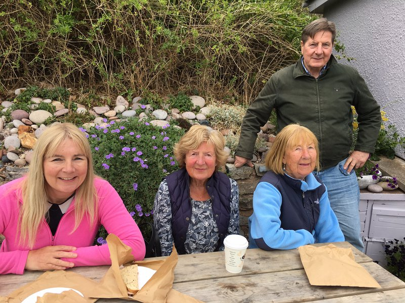 Douglas, his sisters Beryl and Joan and niece Alison enjoying time together on Budleigh beach. Douglas was a great help to me when I was at University… sorting a work Placement in Austria and allowing me to stay with him when I started my first job